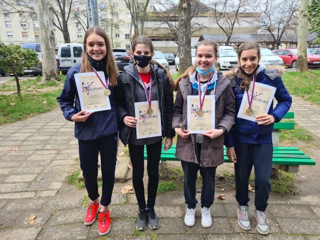 Šampionke Srbije! Sofija, Una, Nevena i Marija